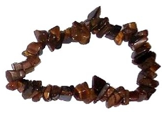 GOLD TIGERS EYE Chip Bracelet