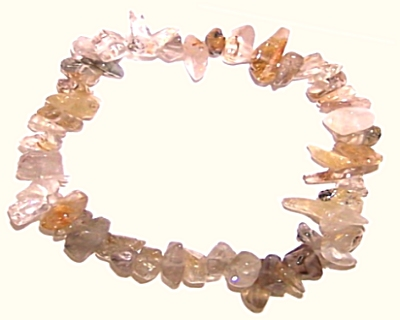 RUTILATED QUARTZ Chip Bracelet